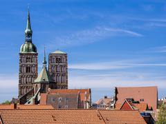 Historical buildings in Stralsund - stock photo
