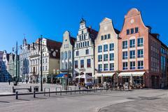 Historical buildings in Rostock - stock photo