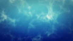 Background Texture - Moving Particles / Blue Water 1080p HD - stock footage