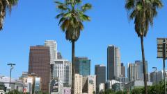 4K, UHD, Los Angeles Downtown Skyline, California, BlackMagic Production Camera Stock Footage