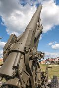 Old weapons - anti-aircraft guns, after war in Croatia - stock photo
