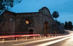 Famagusta Gate historical building landmark, Nicosia Cyprus. - stock photo