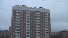 RUSSIA.MOSCOW-2012: View of the residential area Stock Footage