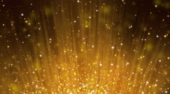 Gold Particles Bokeh Stock Footage