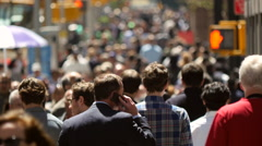Crowd of people walking on a New York City street - stock footage