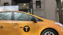 Yellow Taxi NY - stock footage