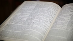 Opened bible - stock footage