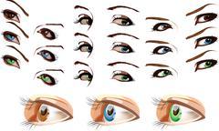 The eyes Stock Illustration