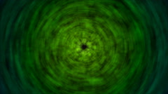 Abstract Rotating Lights Animation - Loop Green Stock Footage
