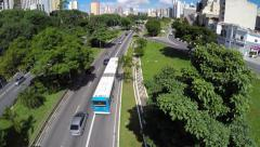 The famous 23 May (23 de Maio) Avenue in Sao Paulo, Brazil Stock Footage