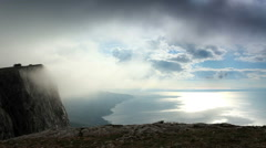 Movement of the clouds on the mountain Merdven-Kayasy. Crimea, Russia FULL HD Stock Footage