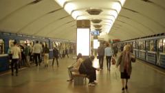Inside The Subway Underground Stock Footage