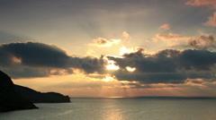 Sunrise in the mountains. Mountain Meganom, Crimea, Russia, Full HD Stock Footage
