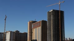 RUSSIA.MOSCOW-2012: Construction of a large residential complex Stock Footage