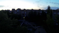 Clouds over the city. diurnal motion, Makeevka, Novorossia Full HD. (time lapse) Stock Footage