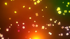 Floating Cube Particle - stock footage