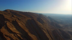 Aerial Makhtesh Ramon (The Ramon Crater), ISRAEL Stock Footage