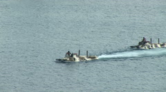 Amphibious assault Stock Footage