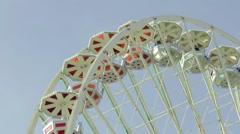 Ferris wheel on the fair Stock Footage