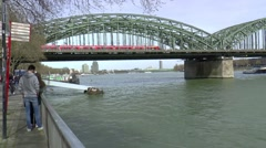 HOHENZOLLERNBRUCKE in Cologne Stock Footage