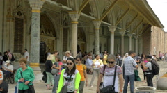 Topkapi Palace Imperial Council building - many tourists - 4K 0505 Stock Footage