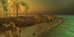 Uberabatitan Dinosaurs Stock Illustration