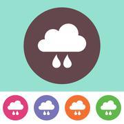 Rain cloud icon Piirros