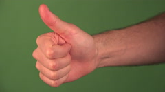 4K Man Gestures Thumbs Up Stock Footage