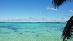 Turquoise water of indian ocean on mahes coast Stock Photos