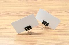 card and clip design - stock photo