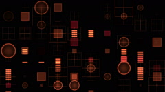 Red digital equalizer Stock Footage