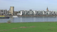 West Bank of the city of Cologne Stock Footage
