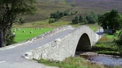 Stone Bridge in the Mountains Stock Footage