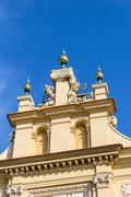 Cloth Hall (Sukiennice), which is situated in the Old town in Cracow, Poland, - stock photo