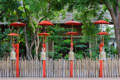 Buddhist bells in Chiang Mai, Thailand Stock Photos