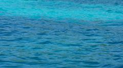 turquoise water of indian ocean on mahes coast - stock photo