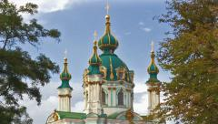 Andreevsky Church in Kiev - stock footage