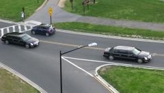 Motorcade from above, Washibgton, DC Stock Footage