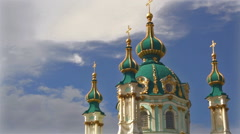 Andreevsky Church in Kiev Stock Footage