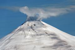 Avachinsky Volcano - active volcano of Kamchatka Stock Photos