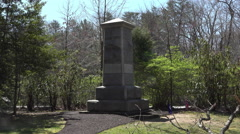 Chancellorsville Virginia Stonewall Jacksom memorial 4K Stock Footage