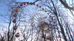 Ferris wheel in Minsk Gorky Park 1. Time Lapse. Stock Footage