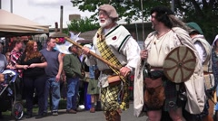 Parade of the Clans and Actors Stock Footage