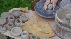 Pottery works - traditional production - hobby shop Stock Footage