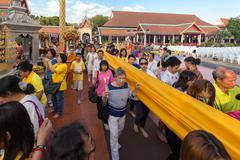 Buddhist sacred procession - stock photo