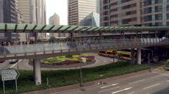 Hong Kong - Elevated Walkway Stock Footage