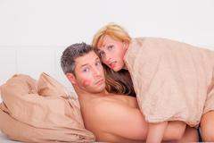 couple while having sexual activities - stock photo