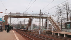 Railway station in Moscow Stock Footage