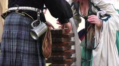 Scottish, Clan games getting ready to play - stock footage