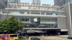 Hong Kong - Apple Store at IFC Mall - stock footage